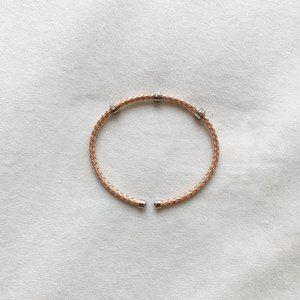Rose Gold Woven Metal Bracelet